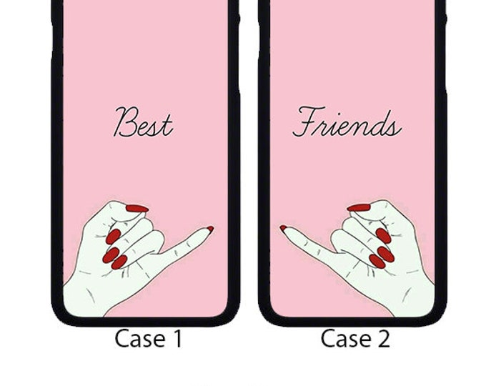 Best Friends apple iphone case cover can be Personalised with Text