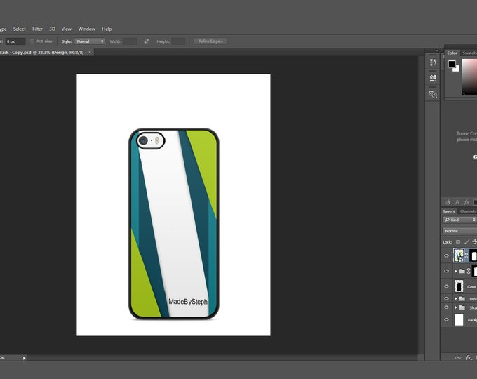 Sublimation iphone 5s case template mockup | Add your own image and background