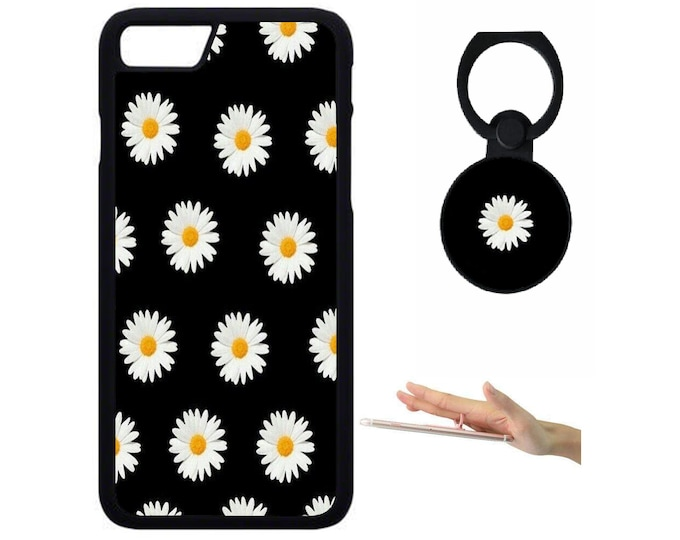Daisy iPhone Samsung Galaxy Rubber TPU Phone Case With Ring Holder