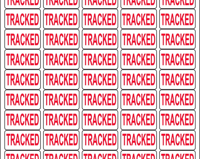 650 - TRACKED Labels Small Stickers