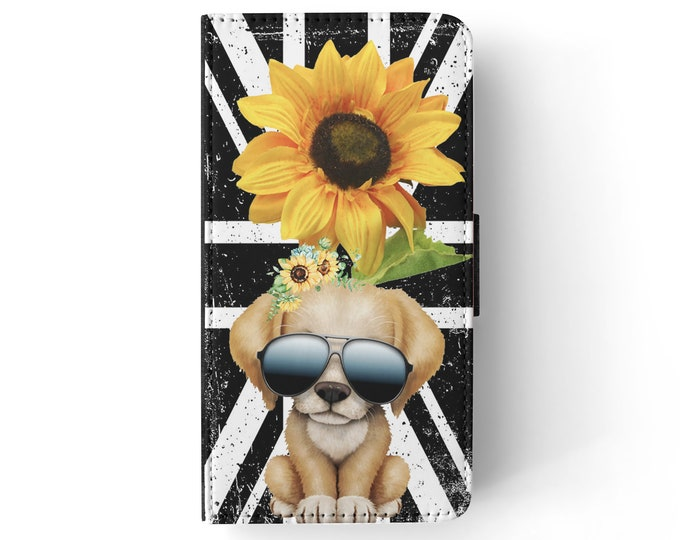 sunflower | puppy | dog | union jack | iPhone flip wallet  iPhone samsung galaxy Case