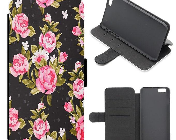 Flower iPhone flip wallet  iPhone samsung galaxy Case