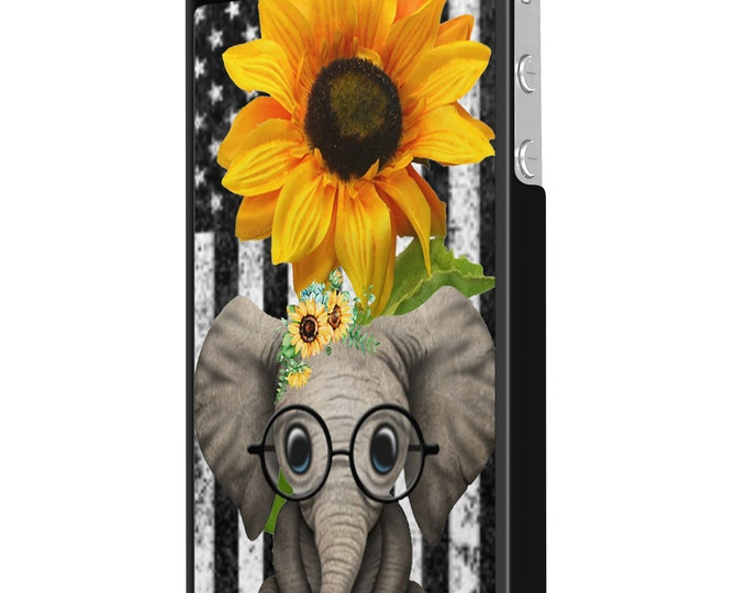 sunflower | elephant | stars and stripes | iPhone Samsung Galaxy Phone Case