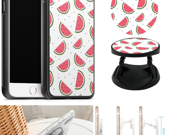Melon Case With Expanding Phone Holder iPhone & Samsung Galaxy Rubber TPU CASE