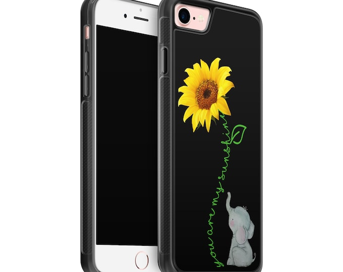 You are my sunshine | sunflower | elephant | iPhone Samsung Galaxy Rubber TPU Phone Case