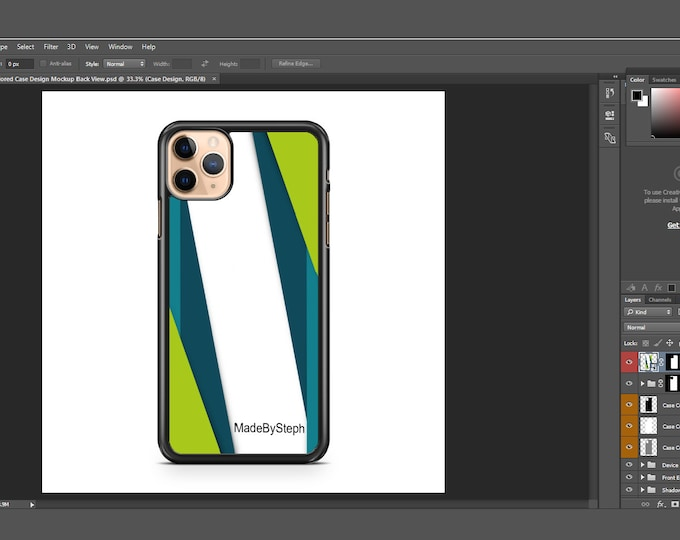 Sublimation iphone 11 Pro Max case template mockup | Add your own image and background