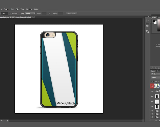 Sublimation iphone 6 case template mockup type 3 | Add your own image and background