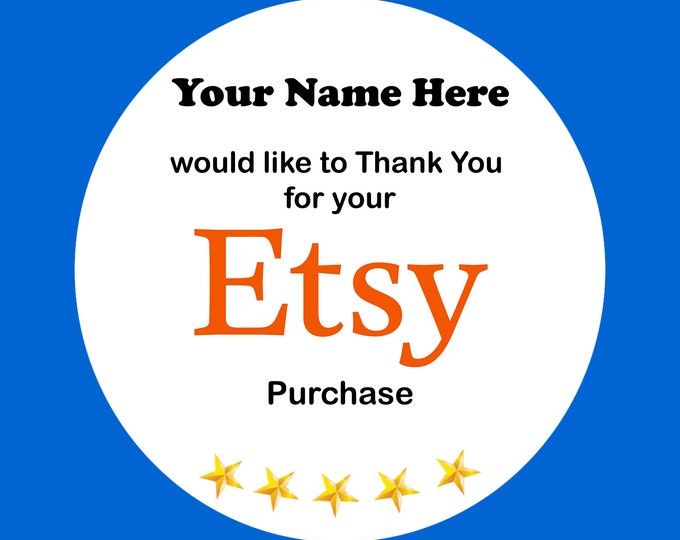 x350 -Etsy - Thank You for Your Purchase Round Stickers / Labels 37mm