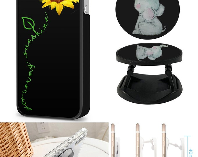 You are my sunshine | sunflower | elephant |Case & Expanding Phone Holder  iPhone Samsung Galaxy Phone Case
