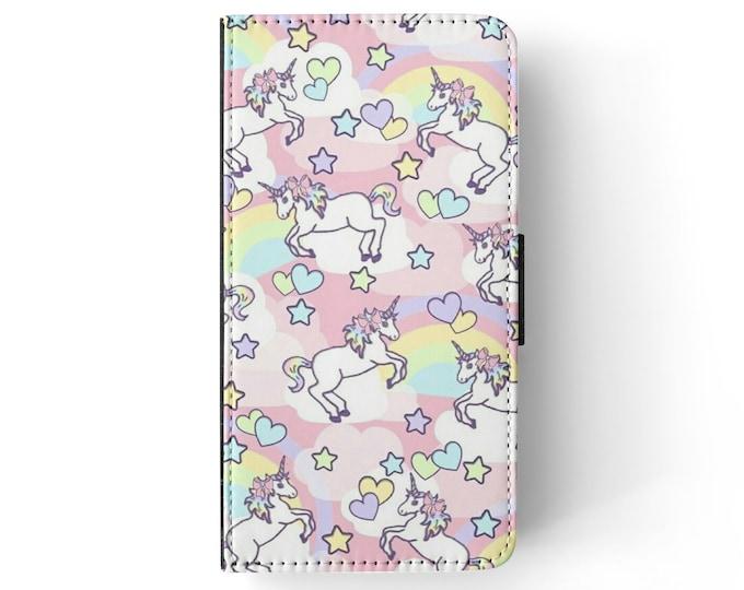 unicorn Phone Flip Wallet case Universal case fits most phones