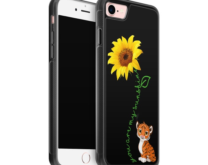 You are my sunshine | sunflower | tiger | iPhone Samsung Galaxy Rubber TPU Phone Case