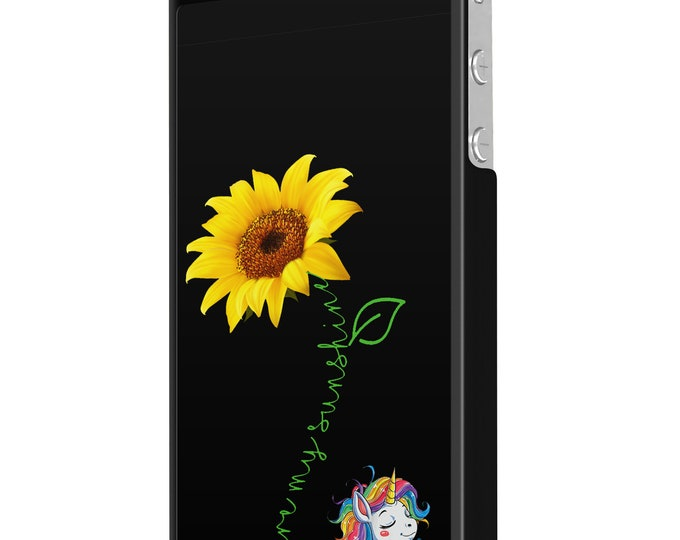 You are my sunshine | sunflower | unicorn | iPhone Samsung Galaxy Phone Case