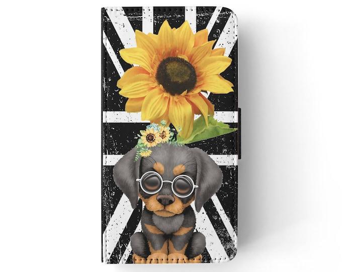sunflower | doberman | dog | union jack | iPhone flip wallet  iPhone samsung galaxy Case