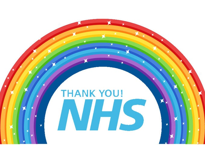 650 - Thank You NHS Labels Small Stickers