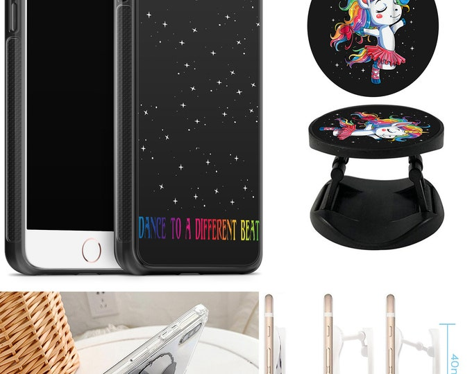 Unicorn Dance To A Different Beat Case With Expanding Phone Holder iPhone & Samsung Galaxy Rubber TPU CASE