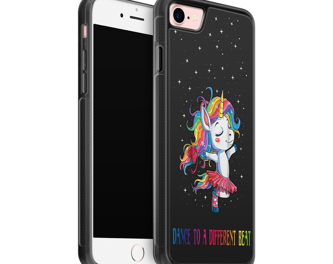 Unicorn | Ballerina | Dance to a different beat | iPhone Samsung Galaxy Rubber TPU Phone Case