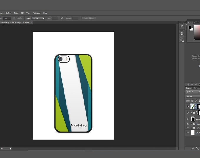 Sublimation iphone 5 case template mockup | Add your own image and background