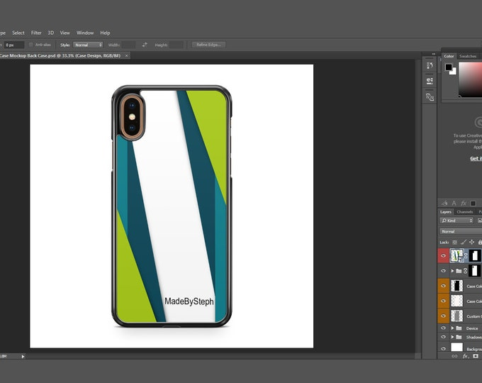 Sublimation iphone Xs Max case template mockup | Add your own image and background