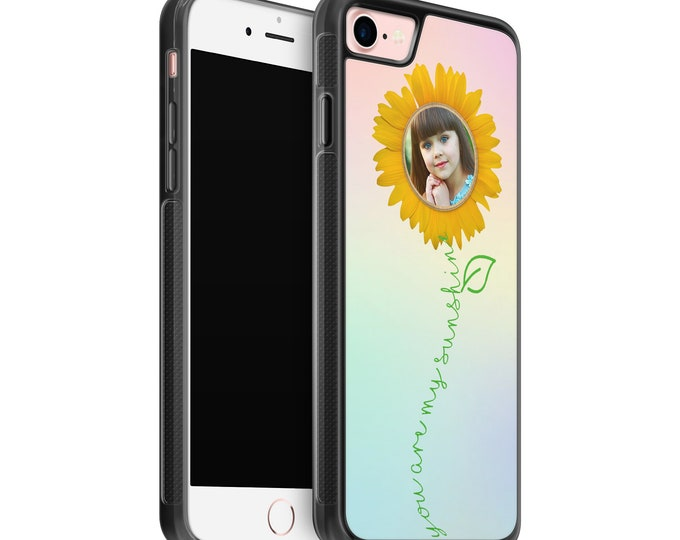 Personalised Photo | You are my sunshine | sunflower | iPhone Samsung Galaxy Rubber TPU Phone Case