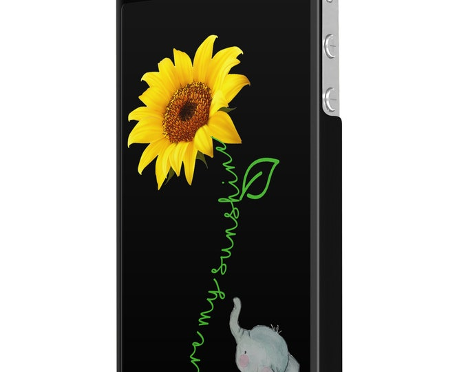 You are my sunshine | sunflower | elephant | iPhone Samsung Galaxy Phone Case