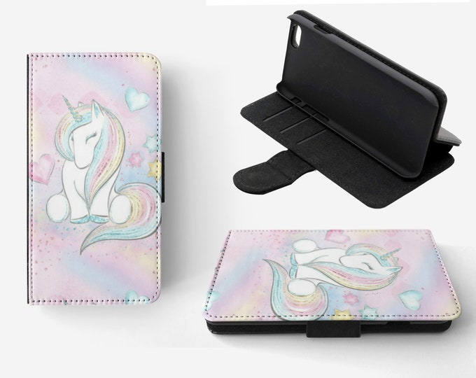 Unicorn Phone Flip Wallet Case Cover for Apple iPhone & Samsung Galaxy