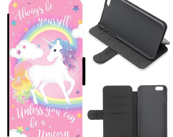 Unicorn iPhone flip wallet  iPhone samsung galaxy Case