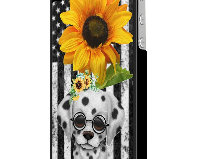 sunflower | dalmatian | dog | stars and stripes | iPhone Samsung Galaxy Phone Case