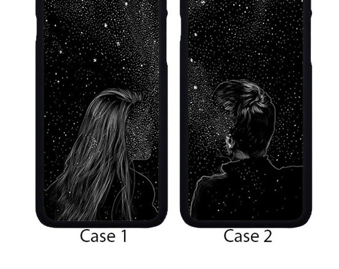 His and hers couples apple iphone case cover can be Personalised with Text