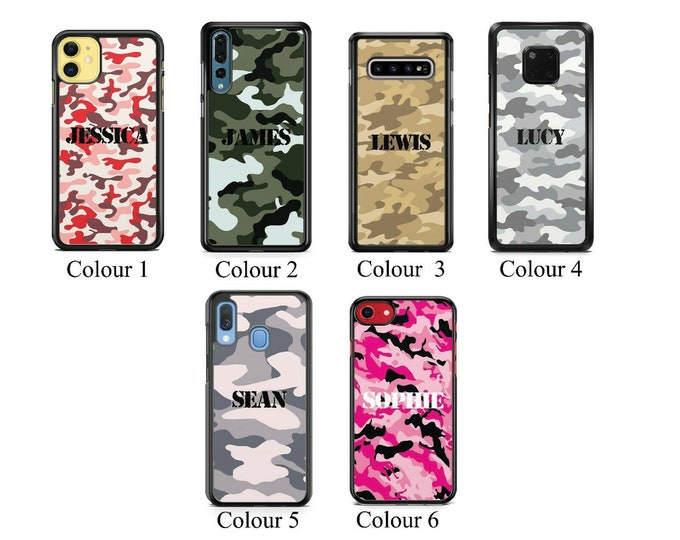 Personalised Camo Name Custom Phone Case Cover for iPhone | Samsung