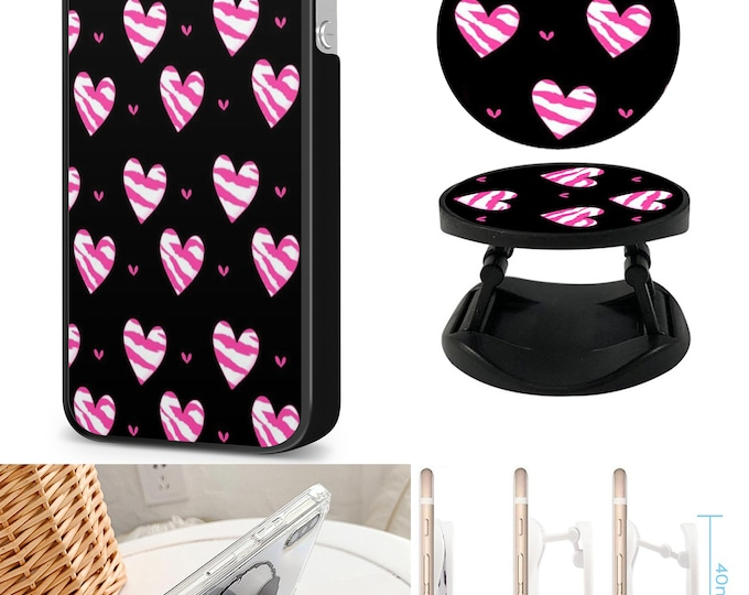 Hearts Case & Expanding Phone Holder  iPhone Samsung Galaxy Phone Case