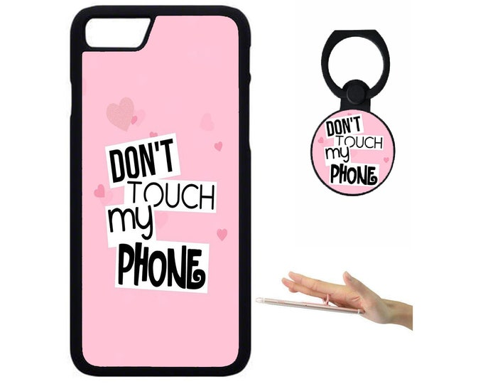 Dont Touch My Phone iPhone Samsung Galaxy Rubber TPU Phone Case With Ring Holder