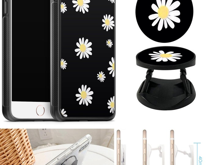 Daisy Case With Expanding Phone Holder iPhone & Samsung Galaxy Rubber TPU CASE