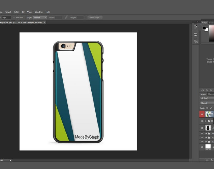 Sublimation iphone 6 case template mockup type 2 | Add your own image and background