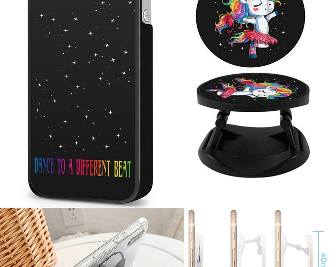 Unicorn Dance To A Different Beat Case & Expanding Phone Holder  iPhone Samsung Galaxy Phone Case