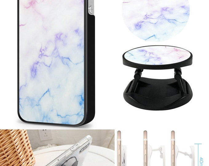 Marble Case & Expanding Phone Holder  iPhone Samsung Galaxy Phone Case