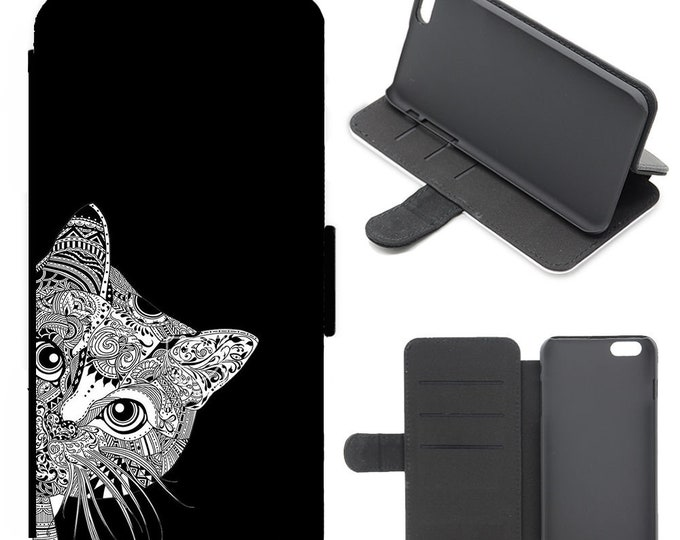 Cat iPhone flip wallet  iPhone samsung galaxy Case