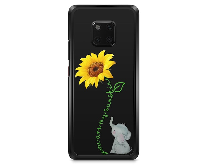 You are my sunshine | sunflower | elephant | Huawei P20 P20 pro P20 lite p8 P9 p10 Mate 20 Pro case cover