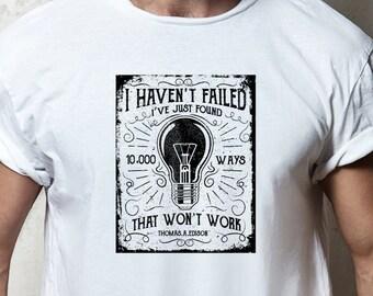 830c7a593 10000 ways Thomas Edison Mens-Fit Nature & Wildlife T-shirt.