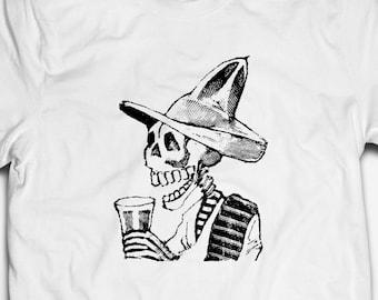 RETRO URBAN GRAFFITI ART HUMAN SKULL 100/% cotton Mens SKELETON T-shirt TEE