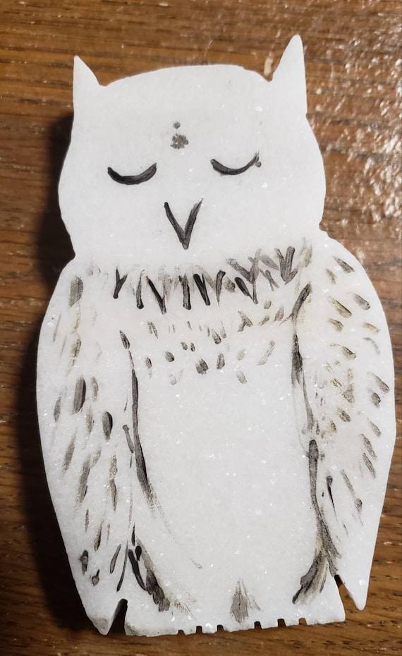 Hand Made Colorado Marble Owl