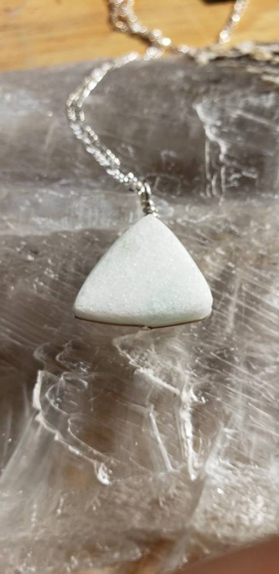 White Marble Triangles