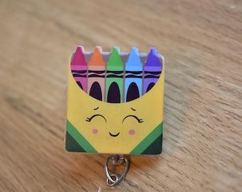 Crayon Box Lanyard, Crayon Box Badge Reel, Lanyard, badge holder, badge reel, id badge holder, work id, lanyard with id holder, work lanyard