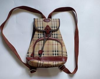 4d535d33e811 Vintage Burberrys Nova Check Backpack