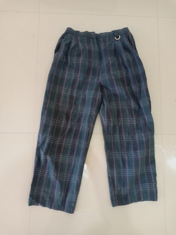 Vintage Christian Dior Tartan Pants Checkered