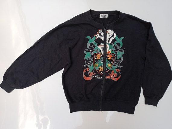 Vintage Kansai Yamamoto Sweater Zip Dragon