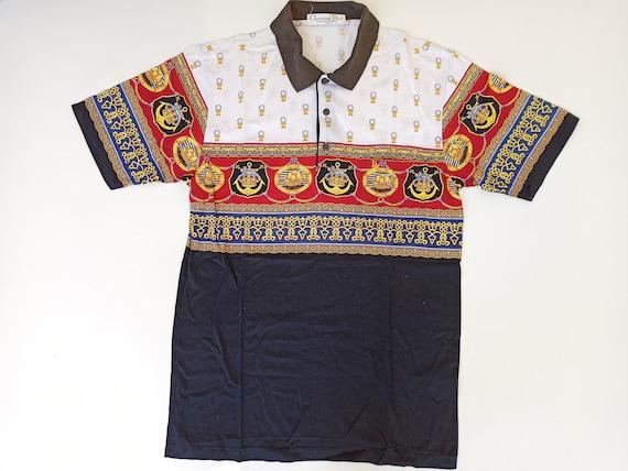 vintage polo shirt christian dior monsieur sports