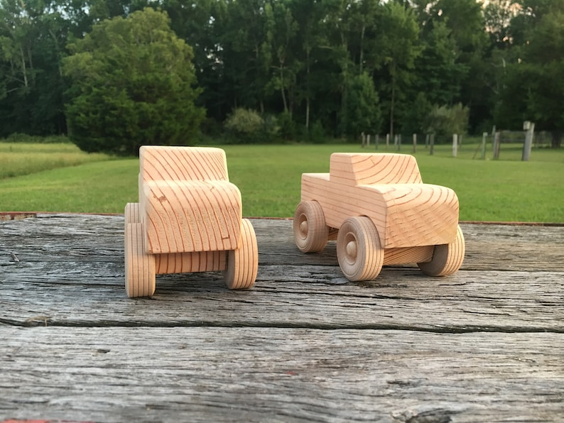 Homemade Wooden Toy Truck