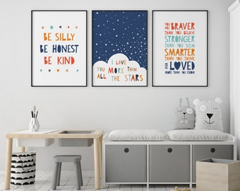 Kids Room Art Etsy