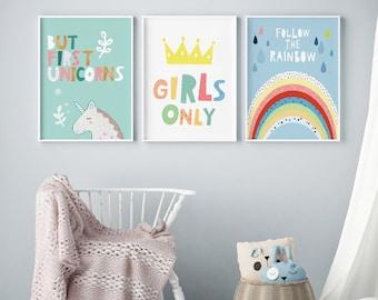 Girls room decor | Etsy