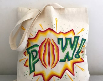 Tote Bag • Pussy Pow! • Multi Color • Pussy Power • feminist